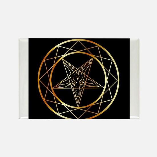 Golden sigil of Baphomet Magnets