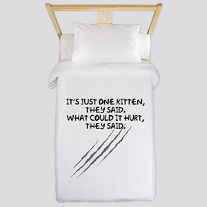 Just One Kitten Twin Duvet Cover