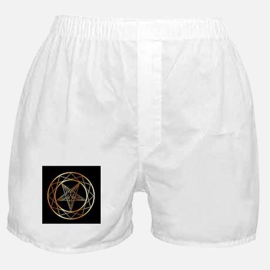 Golden sigil of Baphomet Boxer Shorts