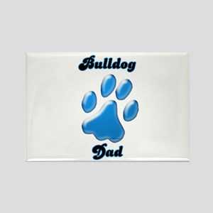Bulldog Dad3 Rectangle Magnet