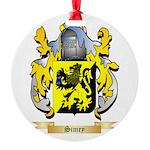 Simey Round Ornament