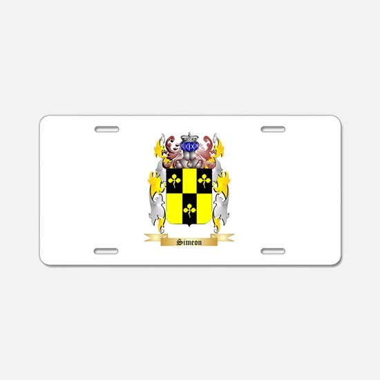 Simeon Aluminum License Plate