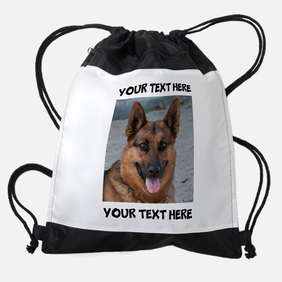 Dog German Shepherd Drawstring Bag