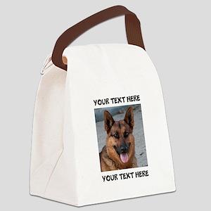 Dog German Shepherd Canvas Lunch Bag