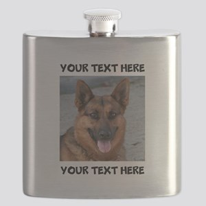 Dog German Shepherd Flask