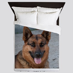 Dog German Shepherd Queen Duvet