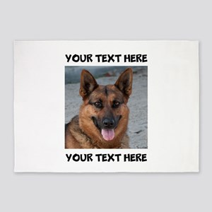Dog German Shepherd 5'x7'Area Rug