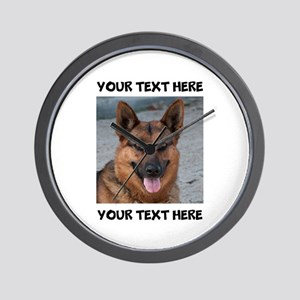 Dog German Shepherd Wall Clock