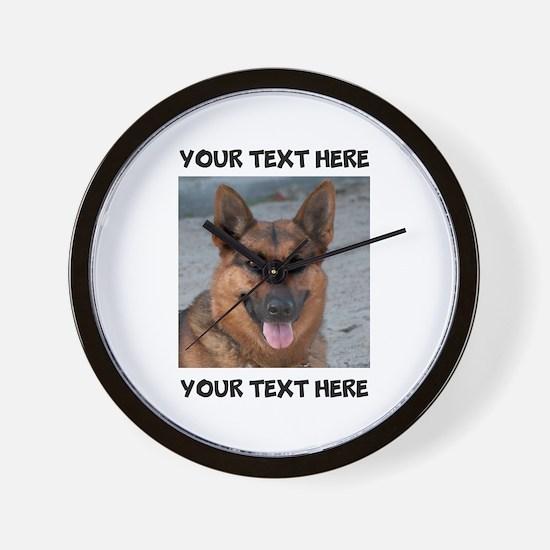 Dog German Shepherd Wall Clock