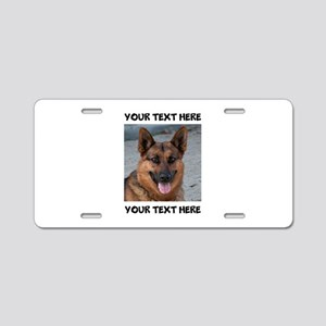 Dog German Shepherd Aluminum License Plate