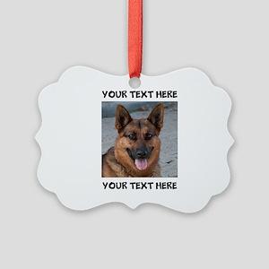 Dog German Shepherd Picture Ornament