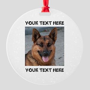 Dog German Shepherd Round Ornament