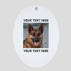 Dog German Shepherd Oval Ornament