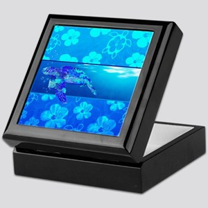 Underwater Sea Turtle Keepsake Box