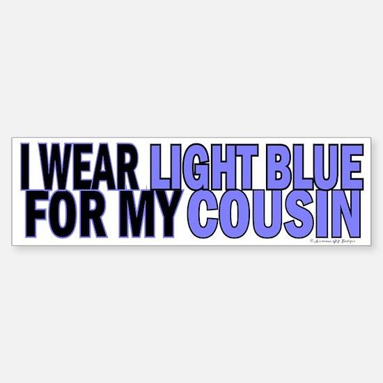 I Wear Light Blue For My Cousin 5 Bumper Bumper Bumper Sticker