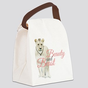 Beauty and Beast Canvas Lunch Bag