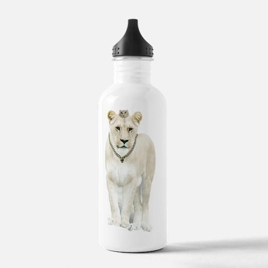 Unique White lion Water Bottle