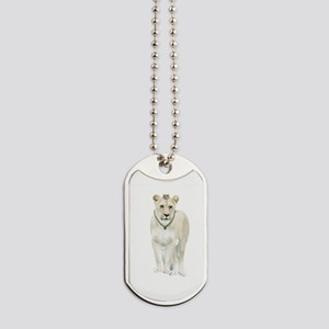 White Lioness Dog Tags