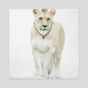 White Lioness Queen Duvet