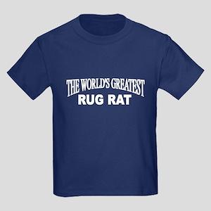 """The World's Greatest Rug Rat"" Kids Dark T-Shirt"