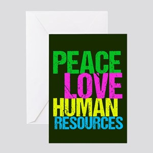 Peace Love HR Greeting Card