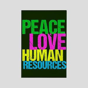 Peace Love HR Rectangle Magnet