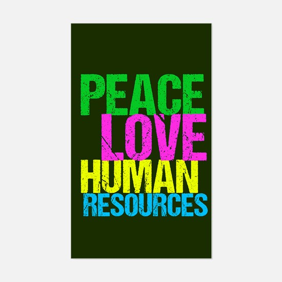 Peace Love HR Sticker (Rectangle)