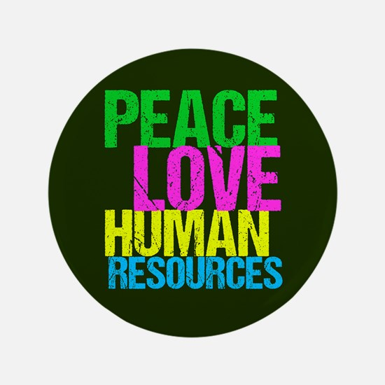 Peace Love HR Button