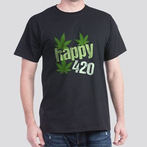 Happy 420 Dark T-Shirt