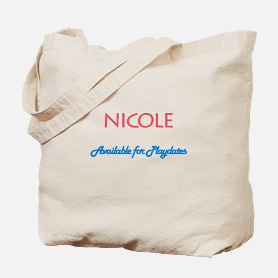 Nicole - Available For Playda Tote Bag