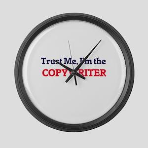 Trust me, I'm the Copywriter Large Wall Clock