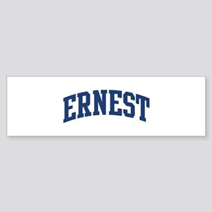 ERNEST design (blue) Bumper Sticker
