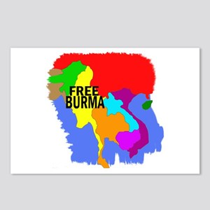 Burma Map Postcards (Package of 8)