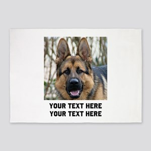 German Shepherd Dog 5'x7'Area Rug