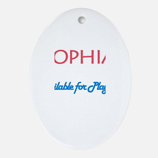 Sophia - Available For Playda Oval Ornament