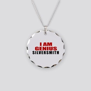 I Am Genius Silversmith Necklace Circle Charm