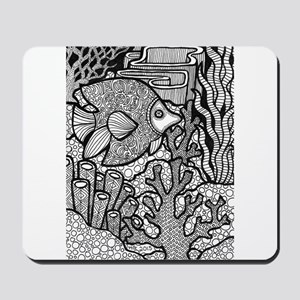 Lines of the Reef Mousepad