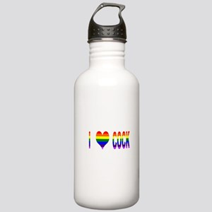 I Love Cock Stainless Water Bottle 1.0L