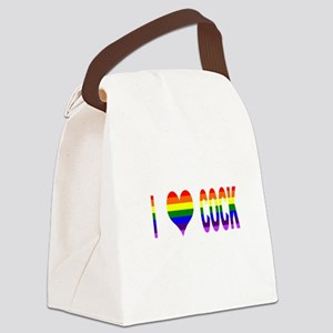I Love Cock Canvas Lunch Bag
