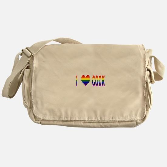 I Love Cock Messenger Bag