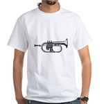Black Trumpet White T-Shirt