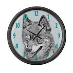 Alaskan Klee Kai Large Wall Clock