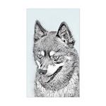 Alaskan Klee Kai Sticker (Rectangle)