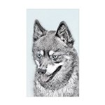Alaskan Klee Kai Sticker (Rectangle 10 pk)