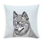 Alaskan Klee Kai Everyday Pillow