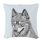 Alaskan Klee Kai Woven Throw Pillow