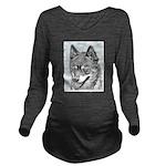 Alaskan Klee Kai Long Sleeve Maternity T-Shirt