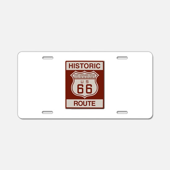 Ft Leonard Wood Route 66 Aluminum License Plate