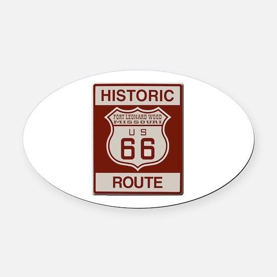 Ft Leonard Wood Route 66 Oval Car Magnet