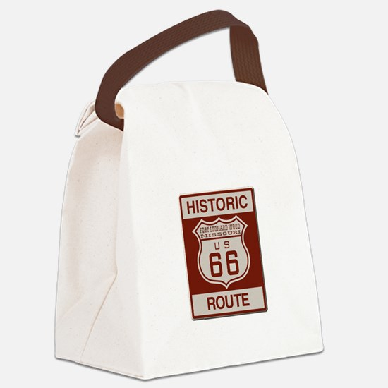 Ft Leonard Wood Route 66 Canvas Lunch Bag